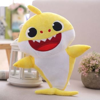 Yellow Baby Shark Musical Stuffed Animal